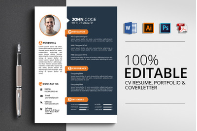 3 Pages CV Resume Template