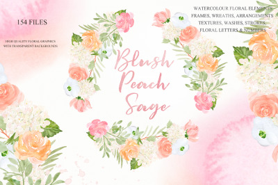 Blush Peach Sage flowers