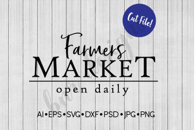 Farmers Market SVG, SVG File, Farmhouse SVG
