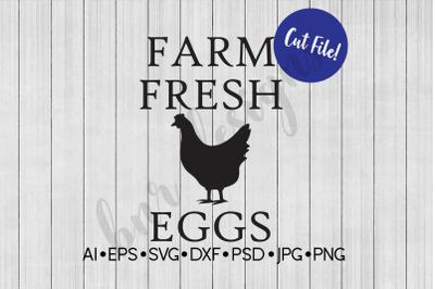 Farm Fresh Eggs SVG, SVG File, Chicken SVG, Farmhouse SVG