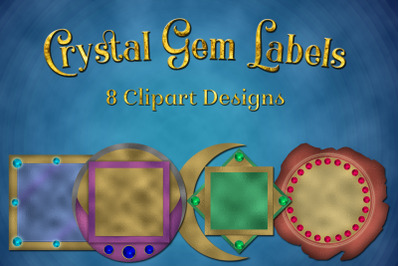 Crystal Gem Labels Clipart Designs