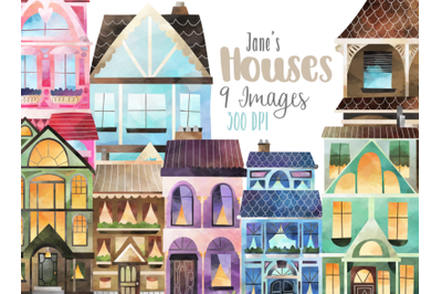 Watercolor House Clipart