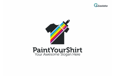 Paint Your Shirt Logo Template