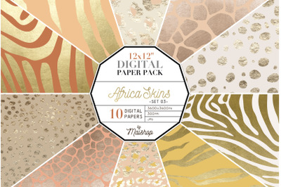 Digital Paper I Africa Skins Set 03