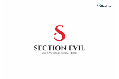 Section Evil Logo Template Logo