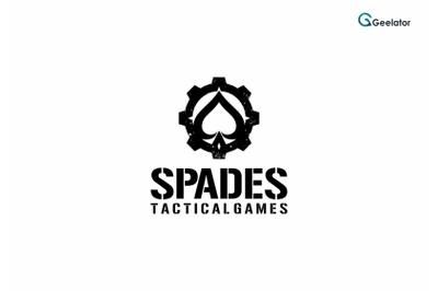Spades Tactical Games Logo Template