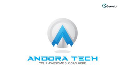 Andora Tech - Letter A Logo