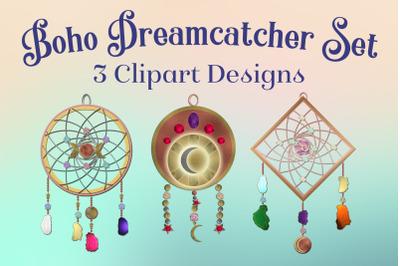Boho Dreamcatcher Clipart - 3 Decorative Clipart Designs
