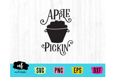 Apple Picking Rustic Sign SVG Cut File