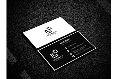 Black Business Card