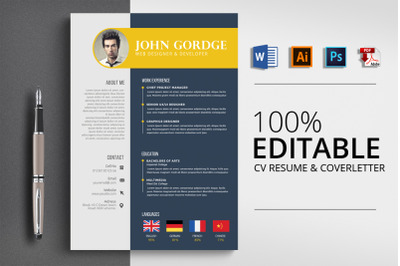 Professional CV Resume Word