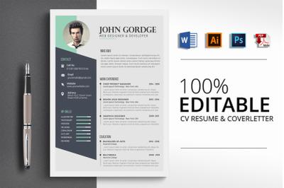 Clean CV Resume Word Template