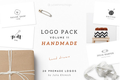 Logo Pack Volume 11. Handmade