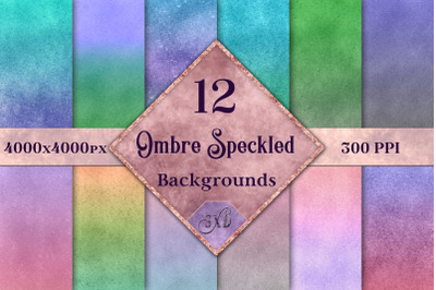 Ombre Speckled Backgrounds - 12 Image Textures Set