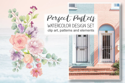 Perfect Pastels watercolor design set