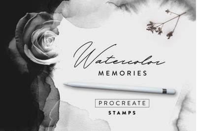 Watercolor Memories - Procreate Stamps