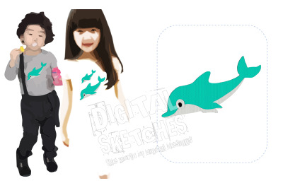 Dolphin Ocean Machine Embroidery Design 4 Sizes