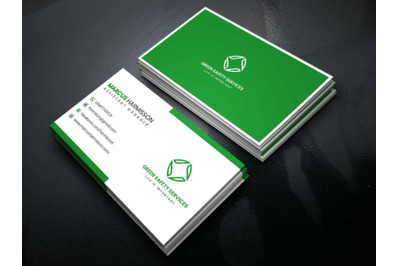 Green Minimalist Business Card