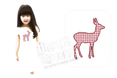 Roe Deer Machine Embroidery Design 3 Sizes