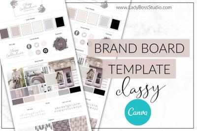Canva Classy Brand Board Template