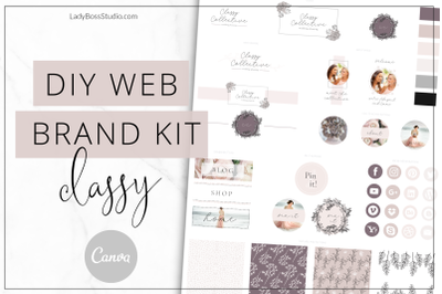 Canva Classy Web Branding Kit