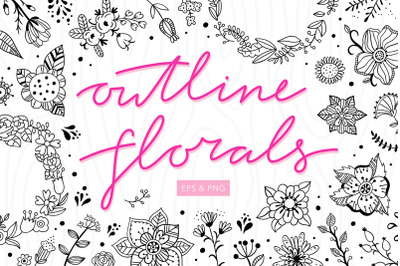 Outline Florals