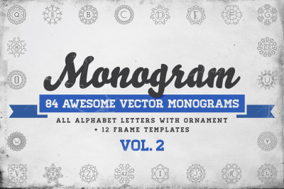 Awesome 84 Monograms in Vector (ABC)