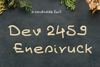 Dev2459 EnesiruckFont