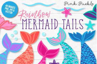 Mermaid Tail Clipart and Vectors