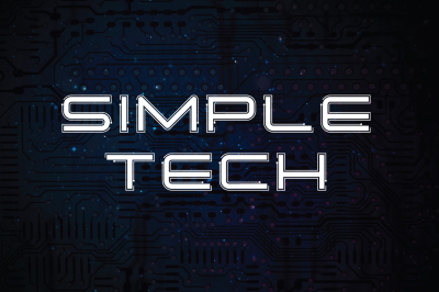 Simple Tech Typeface