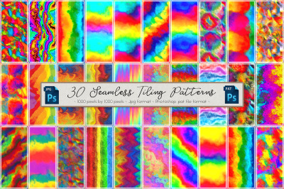 Rainbow Colored Seamless Patterns