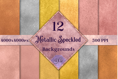 Metallic Speckled Backgrounds - 12 Image Textures Set