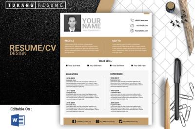 Elegant Resume/Cv Design Template