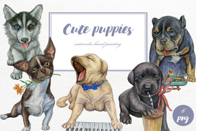 Dogs Watercolor Clipart