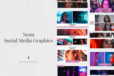 Neon Facebook Posts