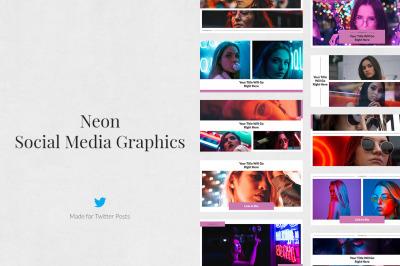 Neon Twitter Posts