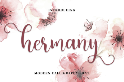 HERMANY//SCRIPT FONT