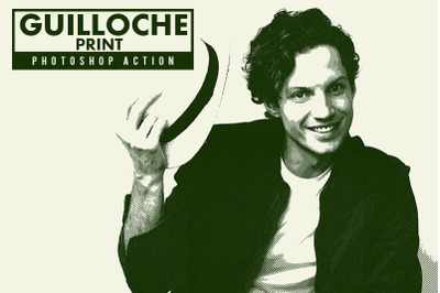 Guilloche Print Photoshop Action