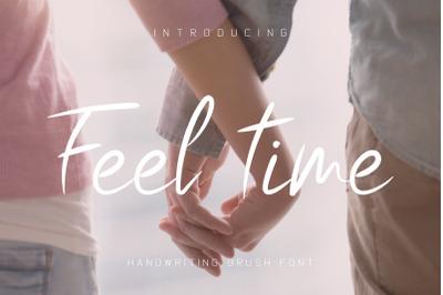 Feel Time Brush Font