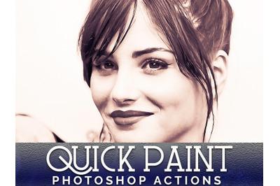 Quick Paint Photoshop Actions