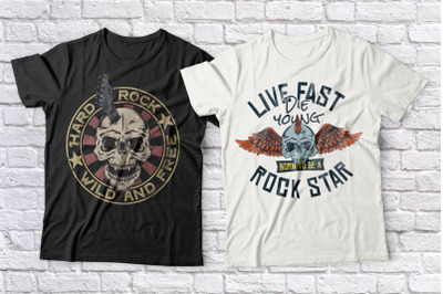 Rock Music T-shirts set