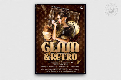Retro Glam Flyer Template V2