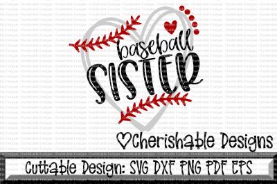 Baseball Sister Heart Cutting File