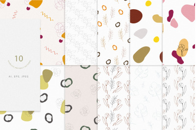 Abstract elements 10 seamless patterns