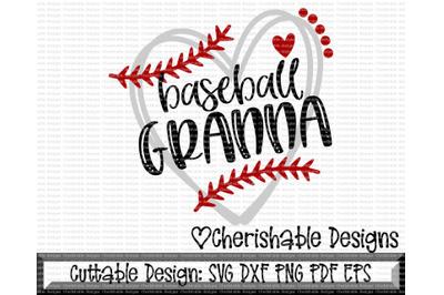 Baseball Granna Heart Cutting File