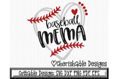 Baseball Mema Heart Cutting File