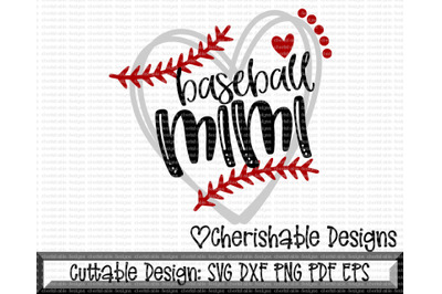 Baseball Mimi Heart Cutting File
