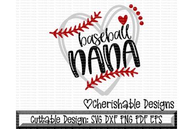 Baseball Nana Heart Cutting File