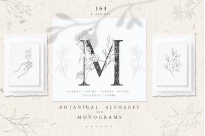 Botanical Alphabet and Monograms.
