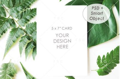 "5"" x 7"" Card Mockup / Invitation Card"